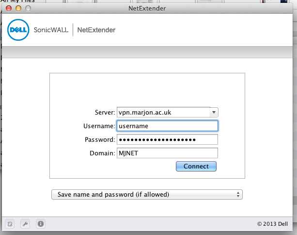 VPN for Apple Mac Logon