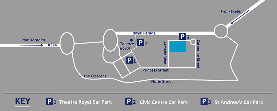 Graduation 2015 Guildhall Parking Map