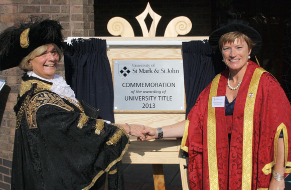 Celebrating University Title Plaque Unveiling Image