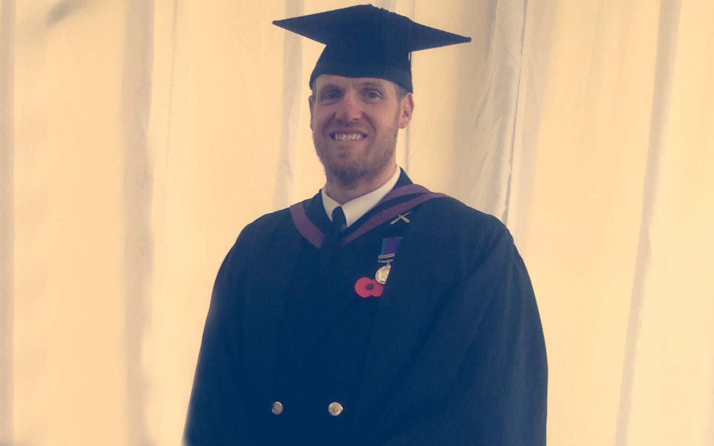 Armed Forces student Paul Todd