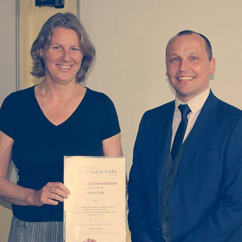 News - Dean's Commendation - Hester Pelly